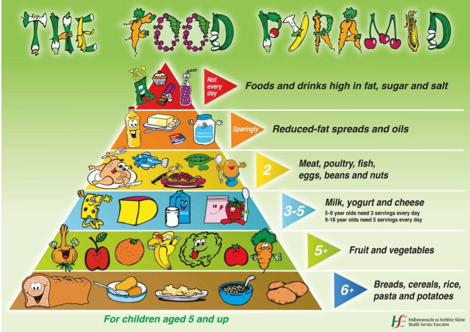 Dietary tips for kids, Ireland