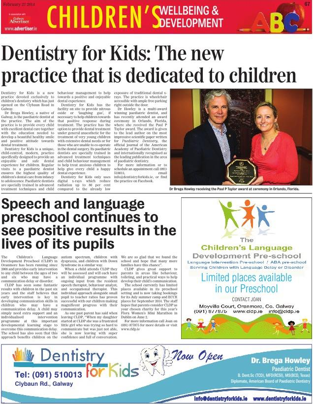 Featured dentistry in the Galway Advertiser